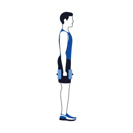 Fitness exercises for strong and beautiful legs. Fitness, Aerobic and workout exercise in gym. Vector set of gym icons in line style isolated on white background. People in gym. Gym equipment. Illusztráció