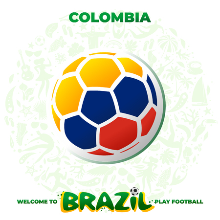 Soccer ball in the colors of the national flag