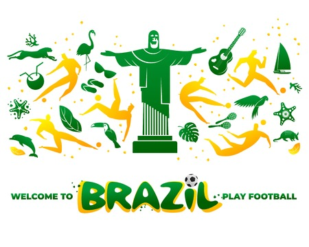 World of Brasil pattern with modern and traditional elements