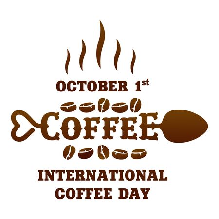 Coffee logo templates. Abstract two colors International coffee day logo templates for your design. Badges, labels, banners , business templates. Vector illustration isolated on white background Stok Fotoğraf - 133387474