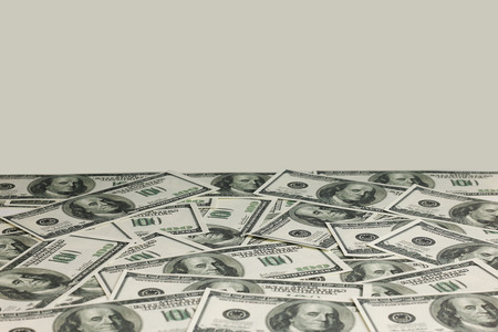 Dollars money background. Finance concept. Time is money Foto de archivo