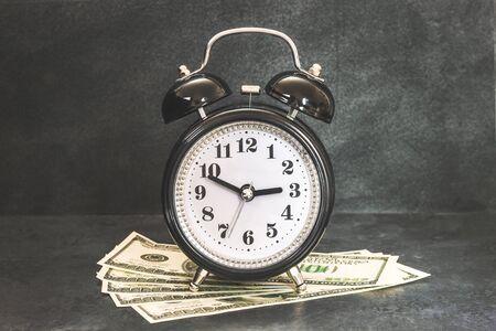 Piggy bank money on dark black background. Savings concept Stock fotó
