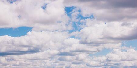 Blue sky background. Cloudy sky