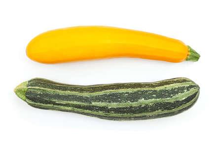 Zucchini isolated. Zucchini isolated white background. Set of Zucchini. Top view