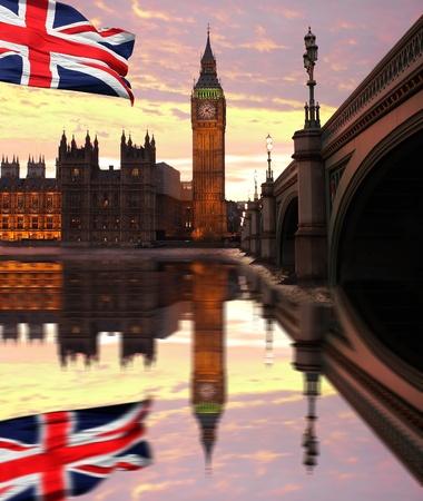 united  kingdom: Big Ben in the evening, London, UK