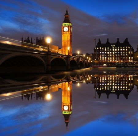 houses of parliament: Big Ben in the evening, London, UK