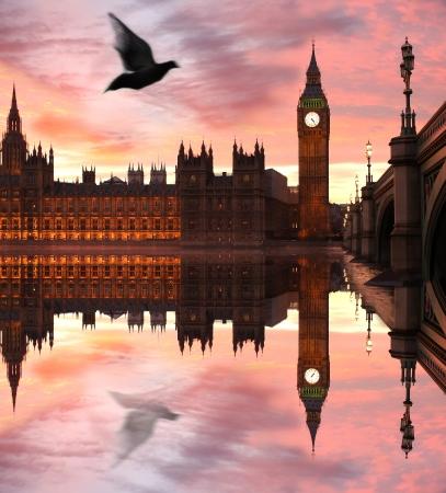 big game: Big Ben di sera, Londra, Regno Unito