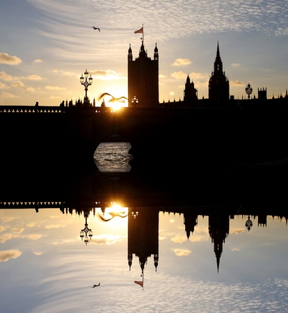 houses of parliament: Parliament in the evening, London, UK