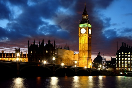 city of westminster: Big Ben in the evening, London, UK