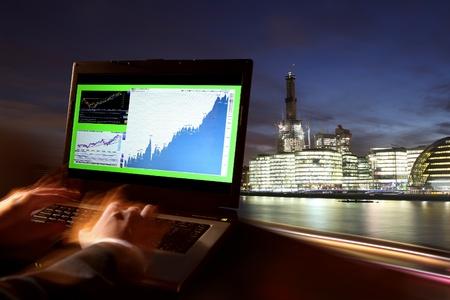 night market: London Stock-exchange, UK