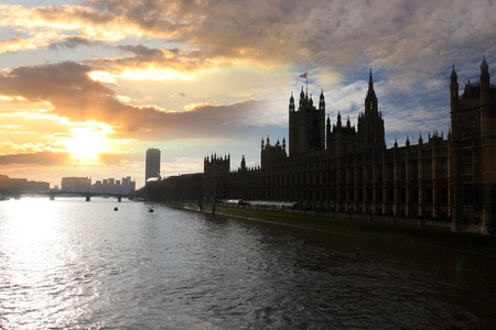 Houses of Parliament  in  London, UK  photo