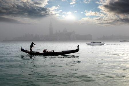venetian: Venice with gondola in Italy
