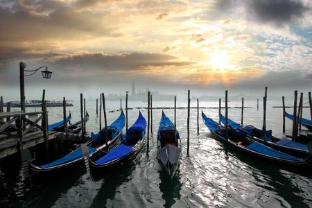 Venice with gondolas in Italy Stock Photo - 12077483