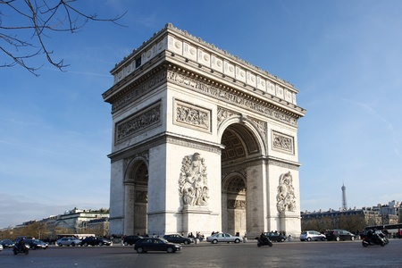 Paris, Famous Arc de Triumph in  France  photo