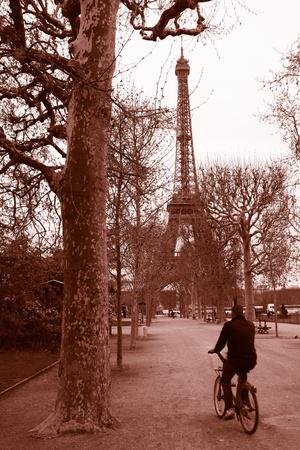 parisian: Eiffel Tower in spring time, Paris, France