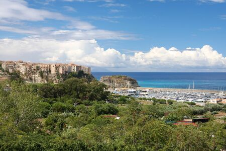 Italy, Calabria, Old town Tropea on the rock  photo