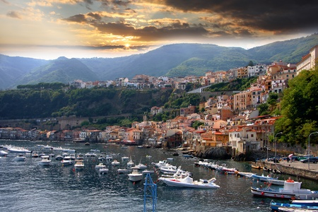 Scilla town in Calabria, Italy  photo