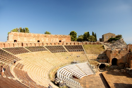 Taormina theater in Sicily, Italy Stock Photo - 12159206
