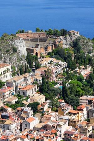 living idyll: Taormina theater in Sicily, Italy Stock Photo