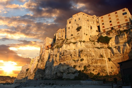 Tropea town on the rock, Calabria, Italy  photo