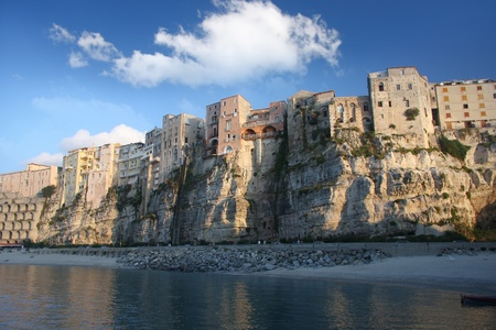 aereal: Tropea town on the rock, Calabria, Italy