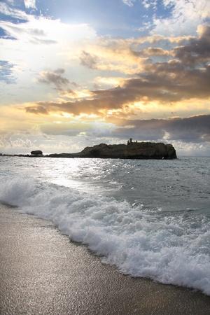 azure coast: Fantastic Calabria azure coast in Italy Stock Photo