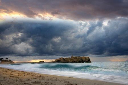 Beautiful coast of Calabria in Italy photo