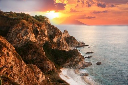 Beautiful coast of Calabria in Italy