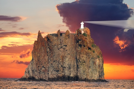 lipari: Stromboli Lighthouse, Italy