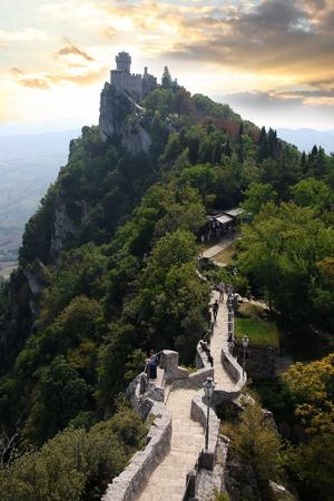 san marino: Rocca della Guaita, castle in San Marino republic, Italy  Stock Photo