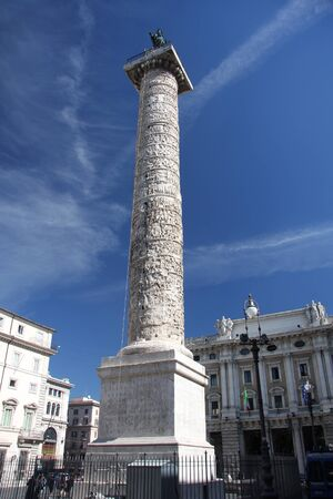 Trajans column  in Rome, Italy  photo