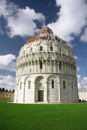 Pisa - Baptistry, Cathedral, Leaning Tower, Italy. photo