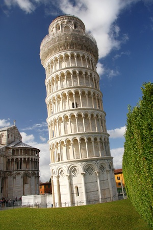 famous Leaning Tower of PISA in Italy  photo