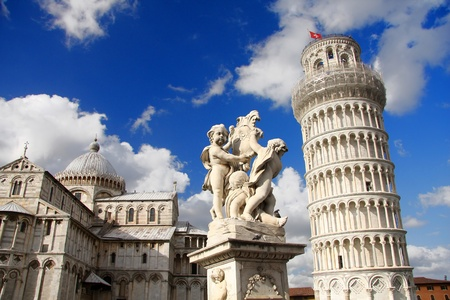 mococa: famous Leaning Tower of PISA in Italy