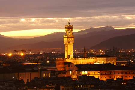 chianti: Florence in the evening in Italy