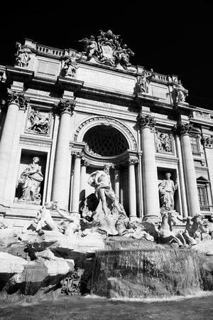 italian fountain: Rome with Fontana di Trevi in Italy