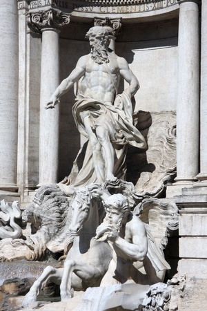 Rome with Fontana di Trevi in Italy  photo