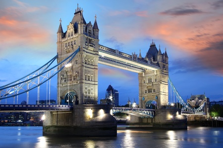 Tower Bridge in the evening in London, UK Stock Photo - 12336161
