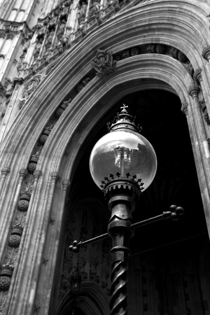 Detail with lamp in London photo