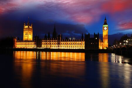 Big Ben in the evening, London, UK photo