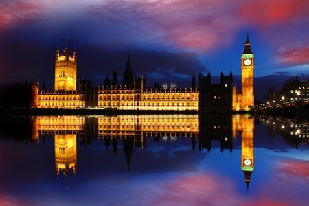 streets of london: Big Ben in the evening, London, UK