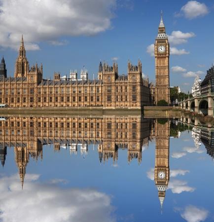 england politics: Big Ben with bridge in London, UK