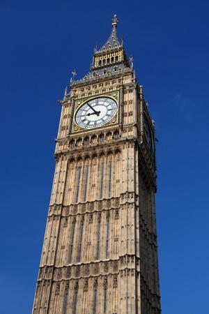 england flag: Big Ben  in London, UK Stock Photo