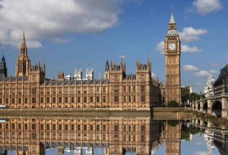 houses of parliament: Big Ben in London, UK Stock Photo
