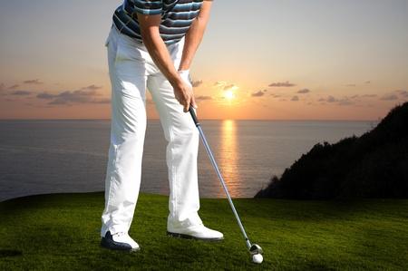 golfcourse: Man playing golf