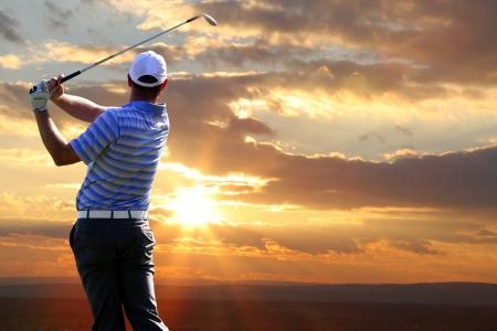ゴルフの男