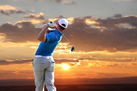 fairway: Man playing golf