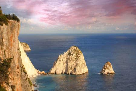 Beautiful cliffs in Zakynthos Island, Greece  photo