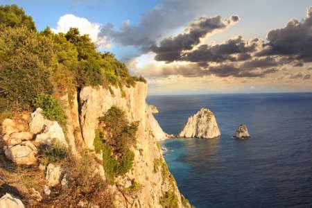 Beautiful cliffs in Zakynthos Island, Greece  Stock Photo - 13006400