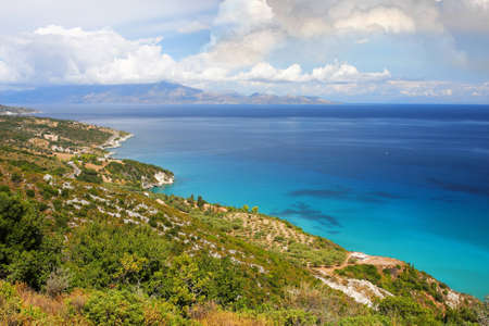 Coast of Greece in Zakynthos Island with azure sea Stock Photo - 13006641